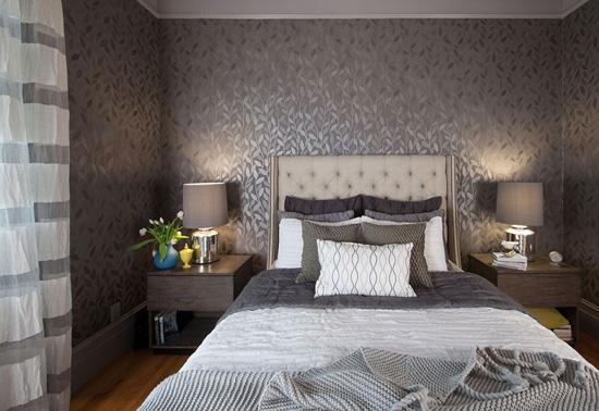 卧室装修效果 床头空间布局