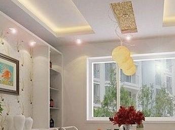 简欧式客厅设计 四款个性风格吊顶