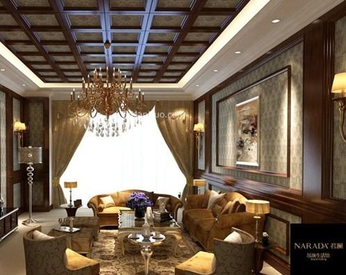 家装客厅吊顶效果图展示,吊顶的设计能让家居 的整体效果更佳具有立体