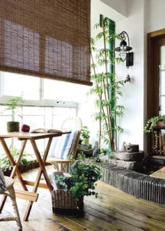阳台厨房装修效果图:园林景色小阳台