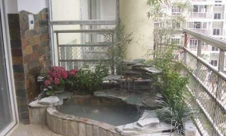 客厅阳台装修效果图:打造出一款林间的感觉,品位茶香.