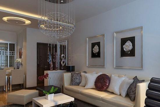 凹凸有致的造型,更加的让小户型的客厅具有立体感