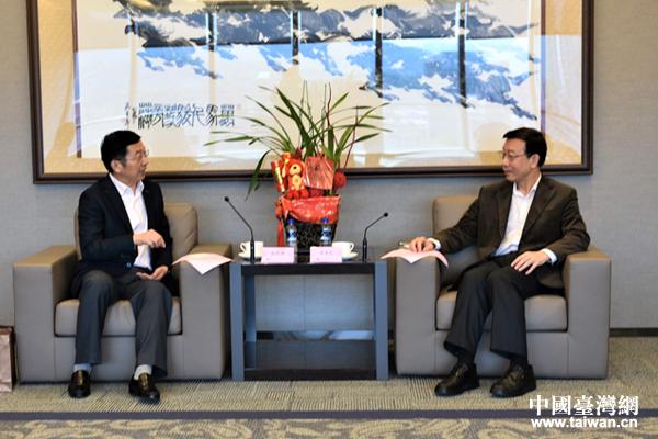 机电商会台北办事处主任李荣民会见南京市经贸交流团一行