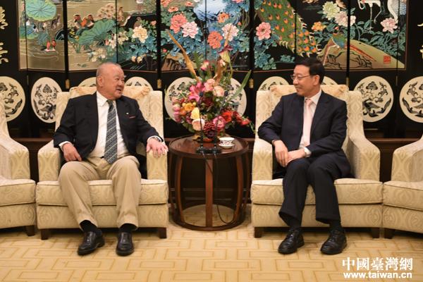 机电商会台北办事处主任李荣民会见工商协进会理事长林伯丰一行