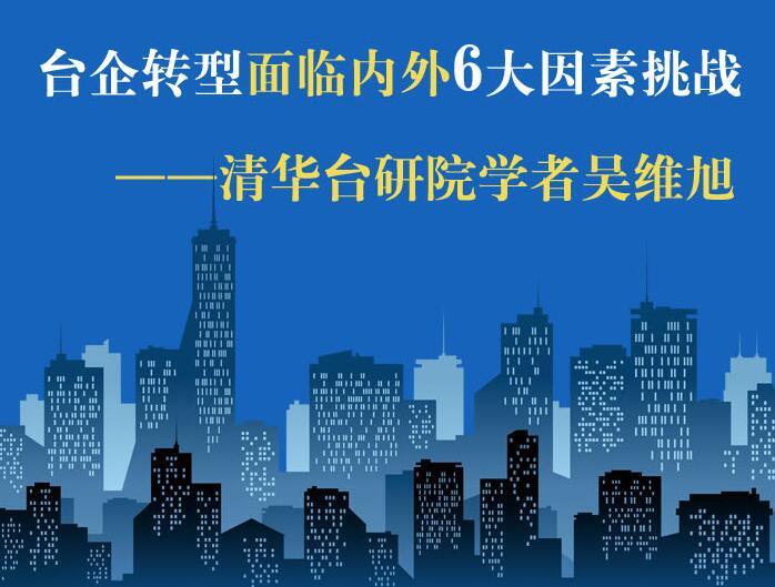 【图侃产经】台企转型面临内外6大因素挑战 ——清华台研院学者吴维旭