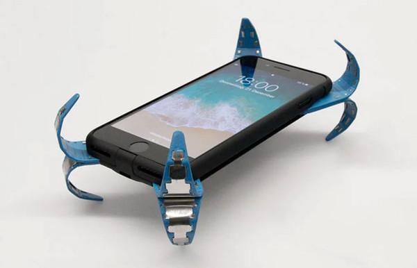 """八支金属脚保护手机!德国大学生研发附有""""安全气囊""""的手机壳"""