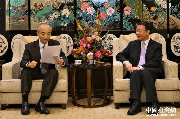 机电商会台北办事处主任李荣民会见台湾上市柜公司协会理事长蔡荣腾