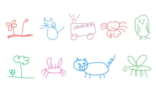 机器人已经学会画简笔画了 看看它们的画作
